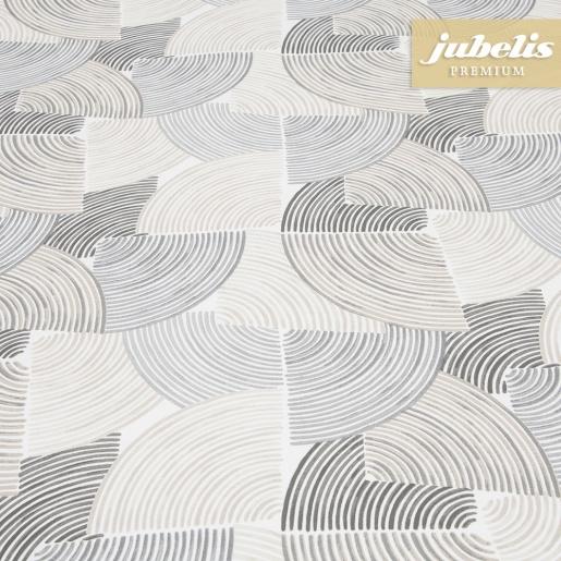 Beschichtete Baumwolle abwaschbar Bettina grau-beige III