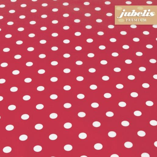 Beschichtete Baumwolle abwaschbar kleine Punkte rot III 270 cm x 140 cm