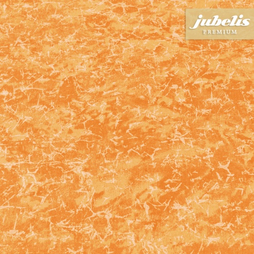 Beschichtete Baumwolle abwaschbar Mara orange III 140 cm Durchmesser rund