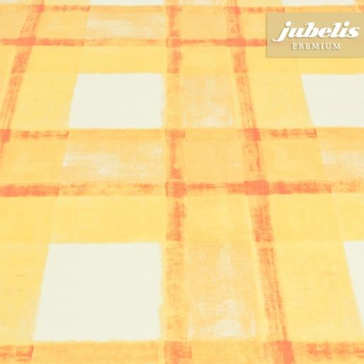 jubelis beschichtete baumwolle abwaschbar pablo gelb orange h. Black Bedroom Furniture Sets. Home Design Ideas