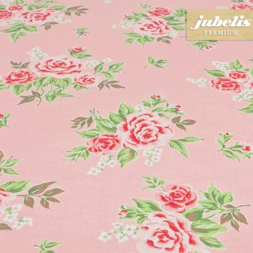 jubelis beschichtete baumwolle abwaschbar rosy rosa h 140 cm durchmesser rund. Black Bedroom Furniture Sets. Home Design Ideas