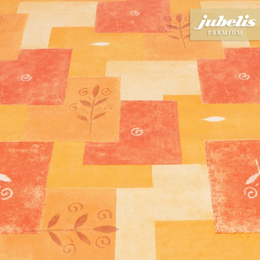 Premium Wachstuch extradick Patch orange H 190 cm x 140 cm