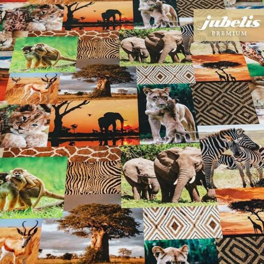 Textiler Luxus-Tischbelag Animali esotici III 180 cm x 140 cm