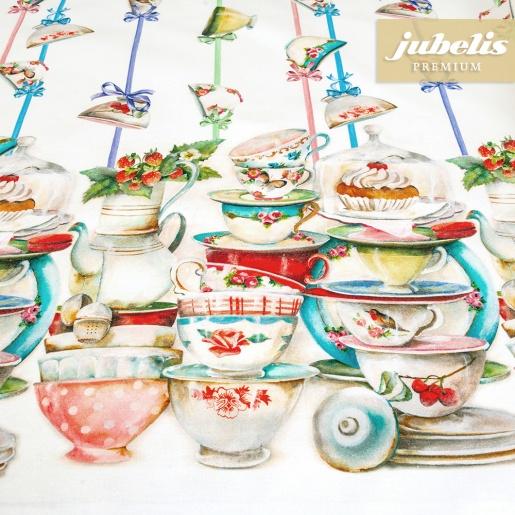 Textiler Luxus-Tischbelag Rebecca III 140 cm Durchmesser rund
