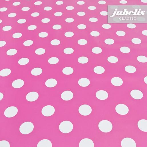 Wachstuch pink mit Punkten H