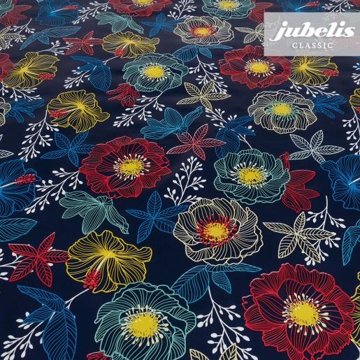 Wachstuch Future Flowers blau P