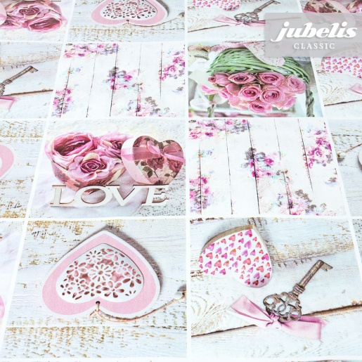 Wachstuch In Love rosa I