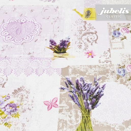 Wachstuch Laeticia violett I 100 cm x 140 cm
