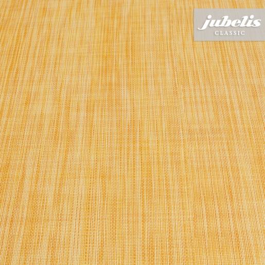 Wachstuch Leinen orange-gelb I 190 cm x 140 cm