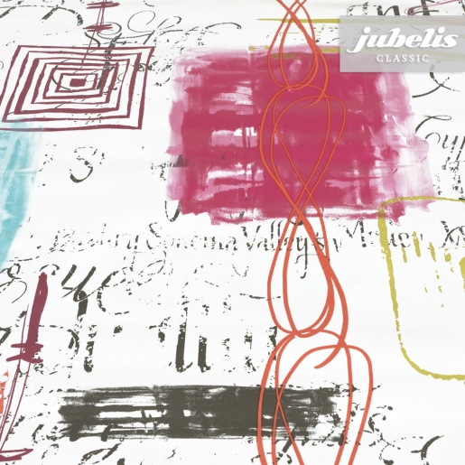 Wachstuch Lesley türkis-pink H