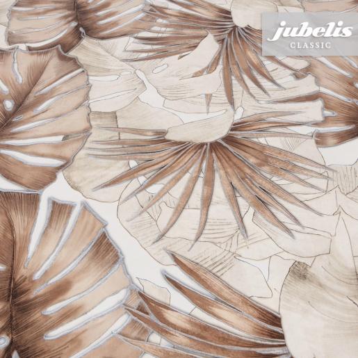 Wachstuch Palmenblätter braun-beige I