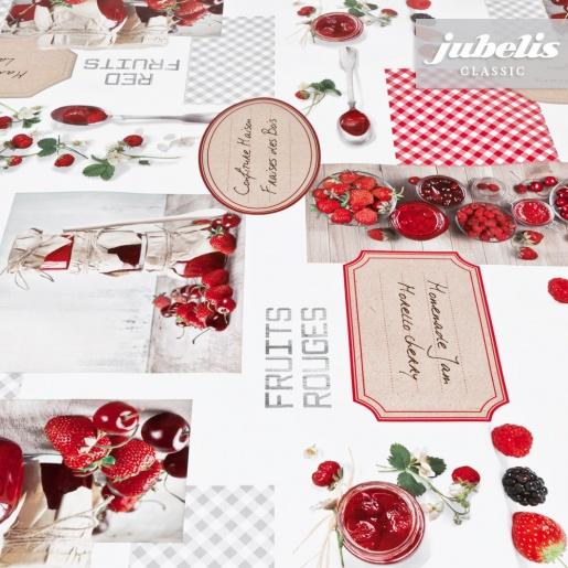 Wachstuch rote Beeren II 110 cm x 140 cm Küchentisch