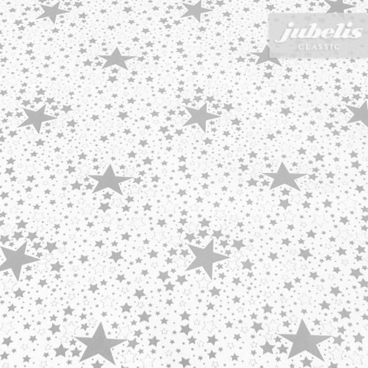 Wachstuch Sterne silber P 2000 cm x 140 cm komplette Rolle-Sonderpreis