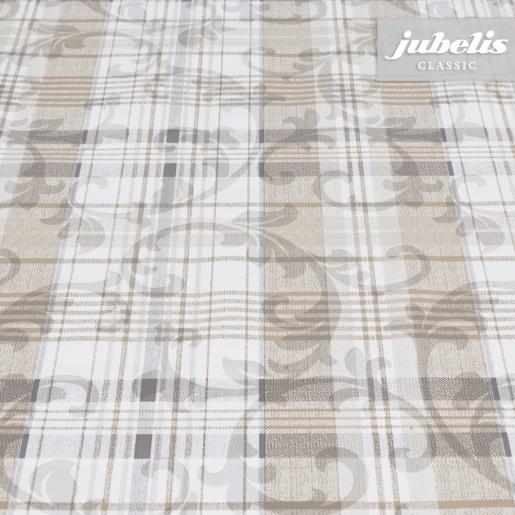 Wachstuch Violetta beige H 110 cm x 140 cm Küchentisch
