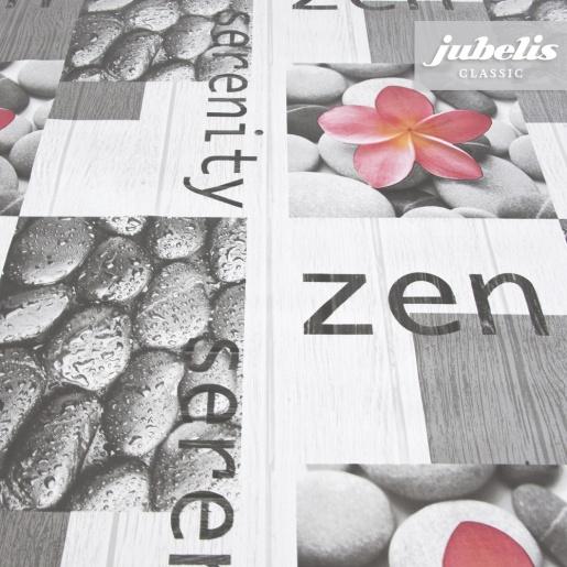 Wachstuch Zen grau P 160 cm x 140 cm Bauerntisch
