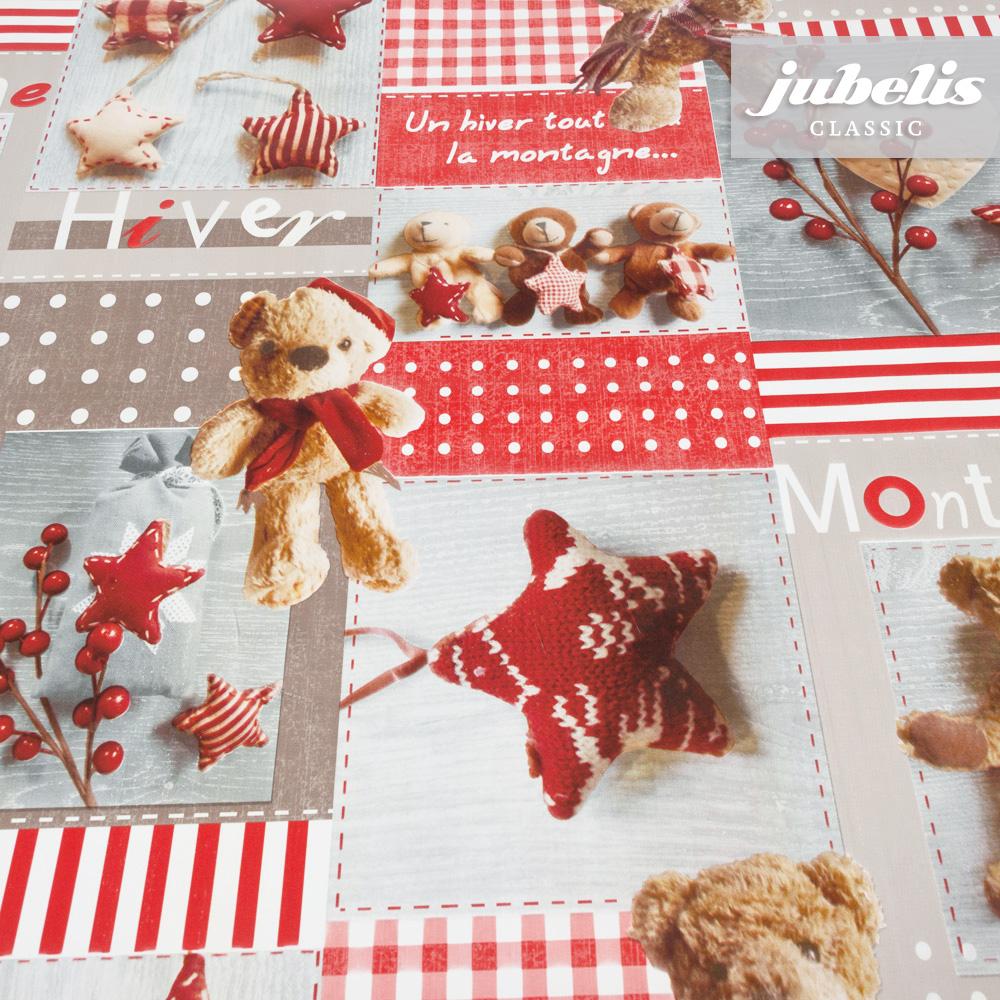 jubelis wachstuch teddy rot i 110 cm x 140 cm k chentisch. Black Bedroom Furniture Sets. Home Design Ideas