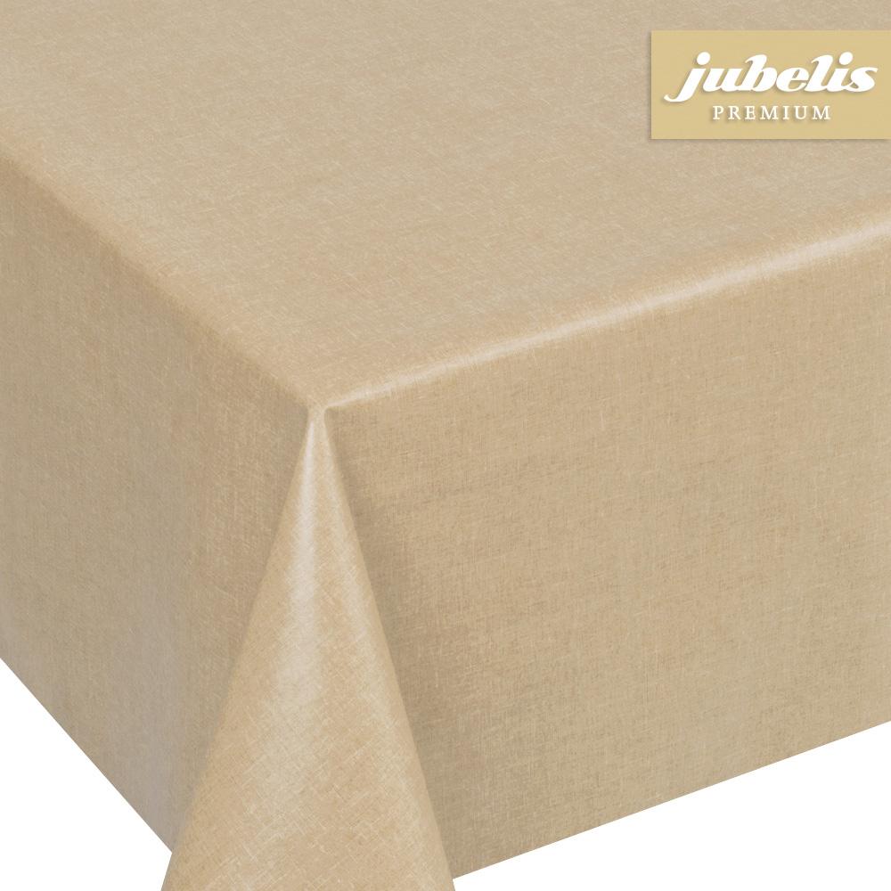 jubelis beschichtete baumwolle abwaschbar florin beige h 140 cm durchmesser rund. Black Bedroom Furniture Sets. Home Design Ideas
