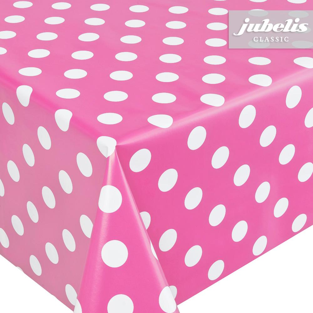 jubelis wachstuch pink mit punkten h. Black Bedroom Furniture Sets. Home Design Ideas