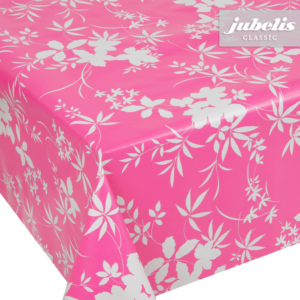 jubelis wachstuch blatt muster pink p. Black Bedroom Furniture Sets. Home Design Ideas
