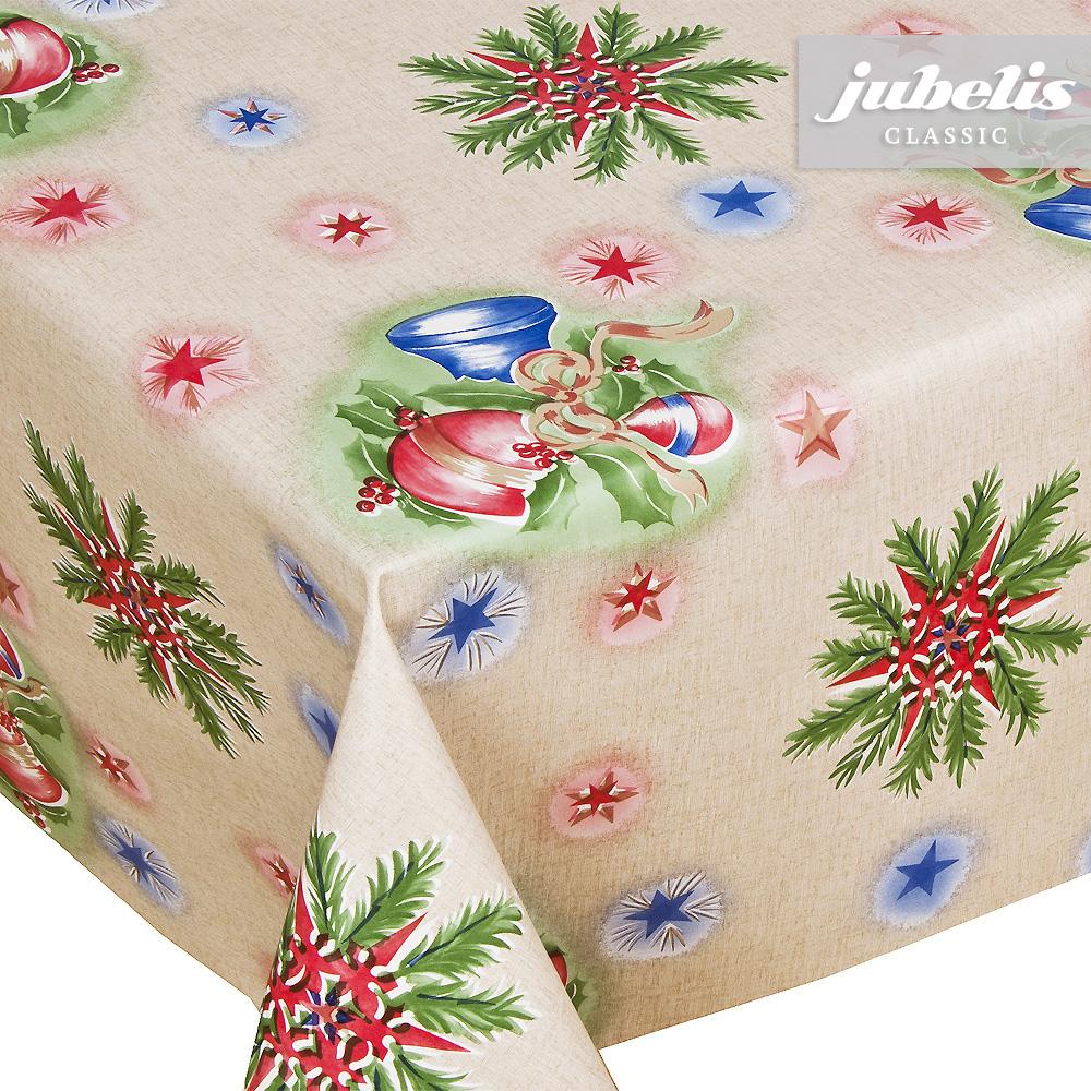 jubelis wachstuch weihnachten kugeln rot blau m 100 cm. Black Bedroom Furniture Sets. Home Design Ideas