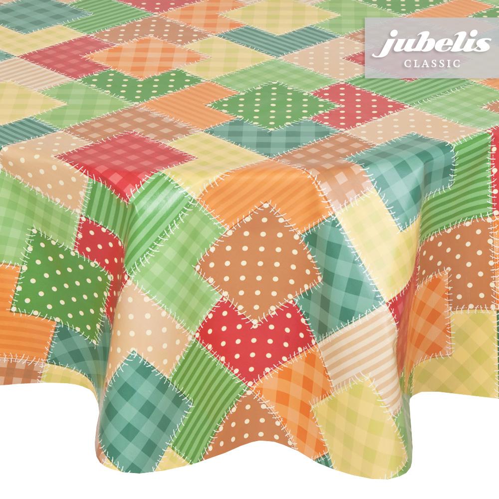 jubelis®  Wachstuch Patchwork bunt P 200 cm x 140 cm