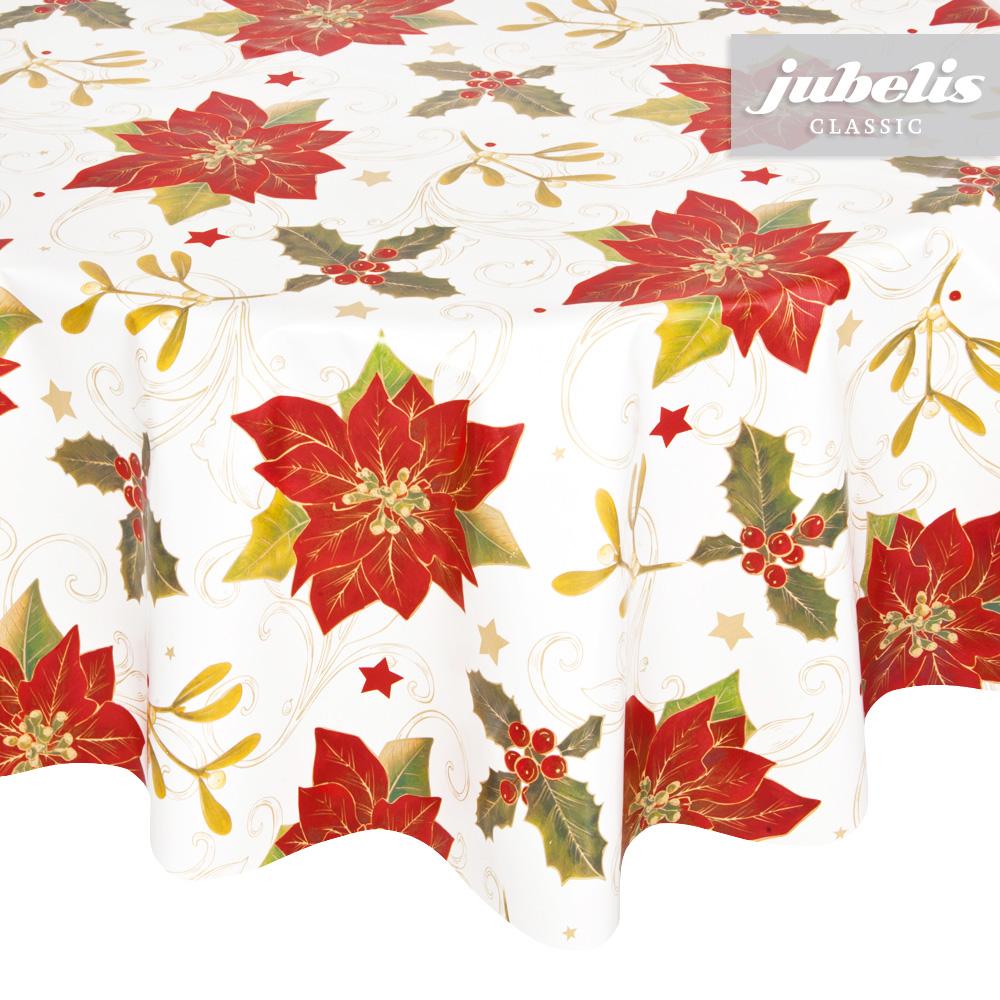 jubelis wachstuch weihnachten weihnachtsstern p 100 cm. Black Bedroom Furniture Sets. Home Design Ideas