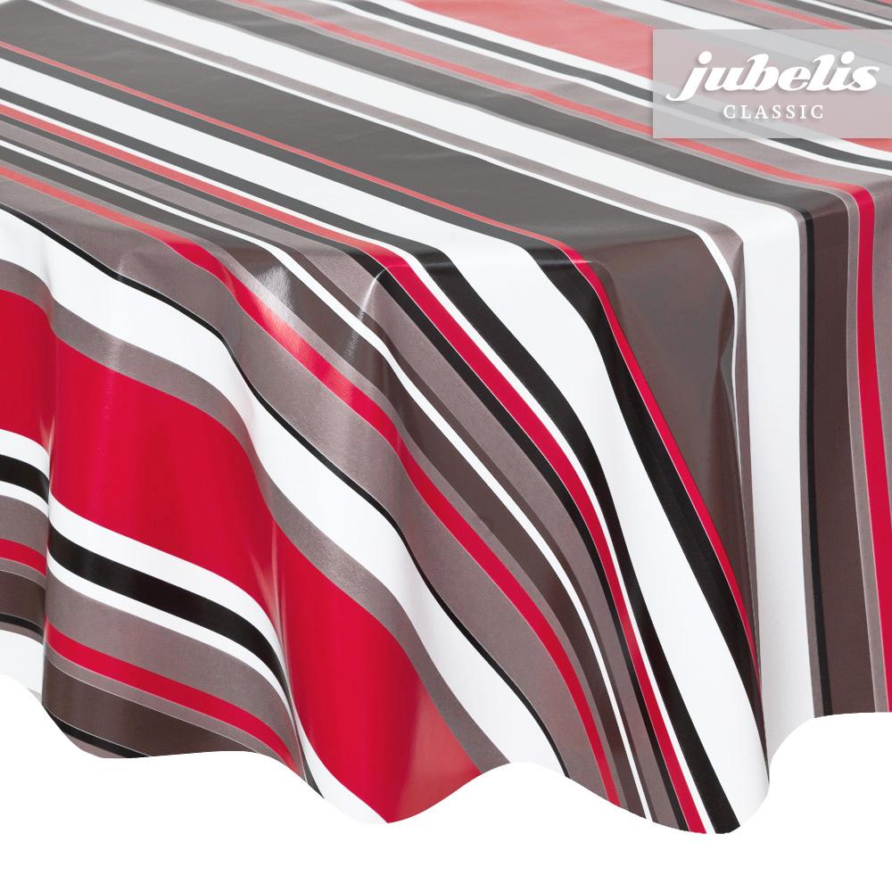 jubelis wachstuch streifen schwarz rot wei i. Black Bedroom Furniture Sets. Home Design Ideas