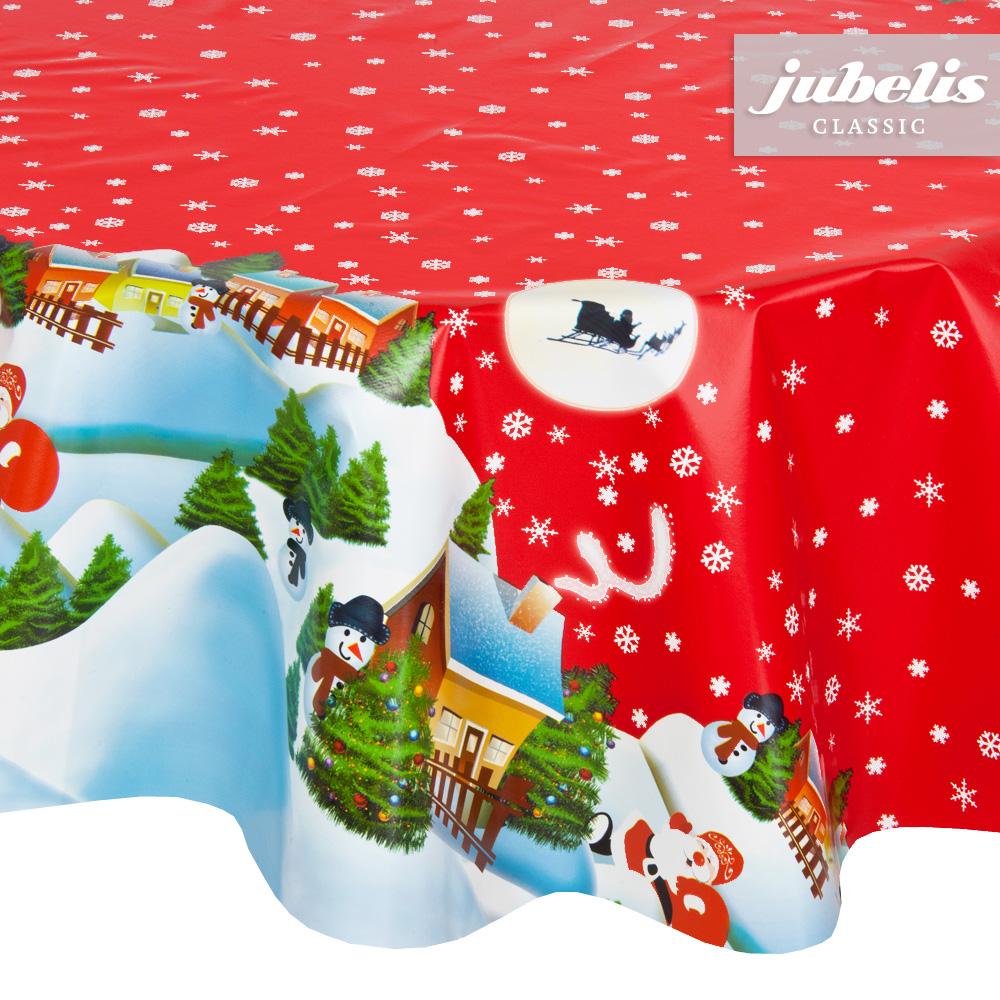 jubelis wachstuch weihnachten schneemann rot p h 190 cm. Black Bedroom Furniture Sets. Home Design Ideas