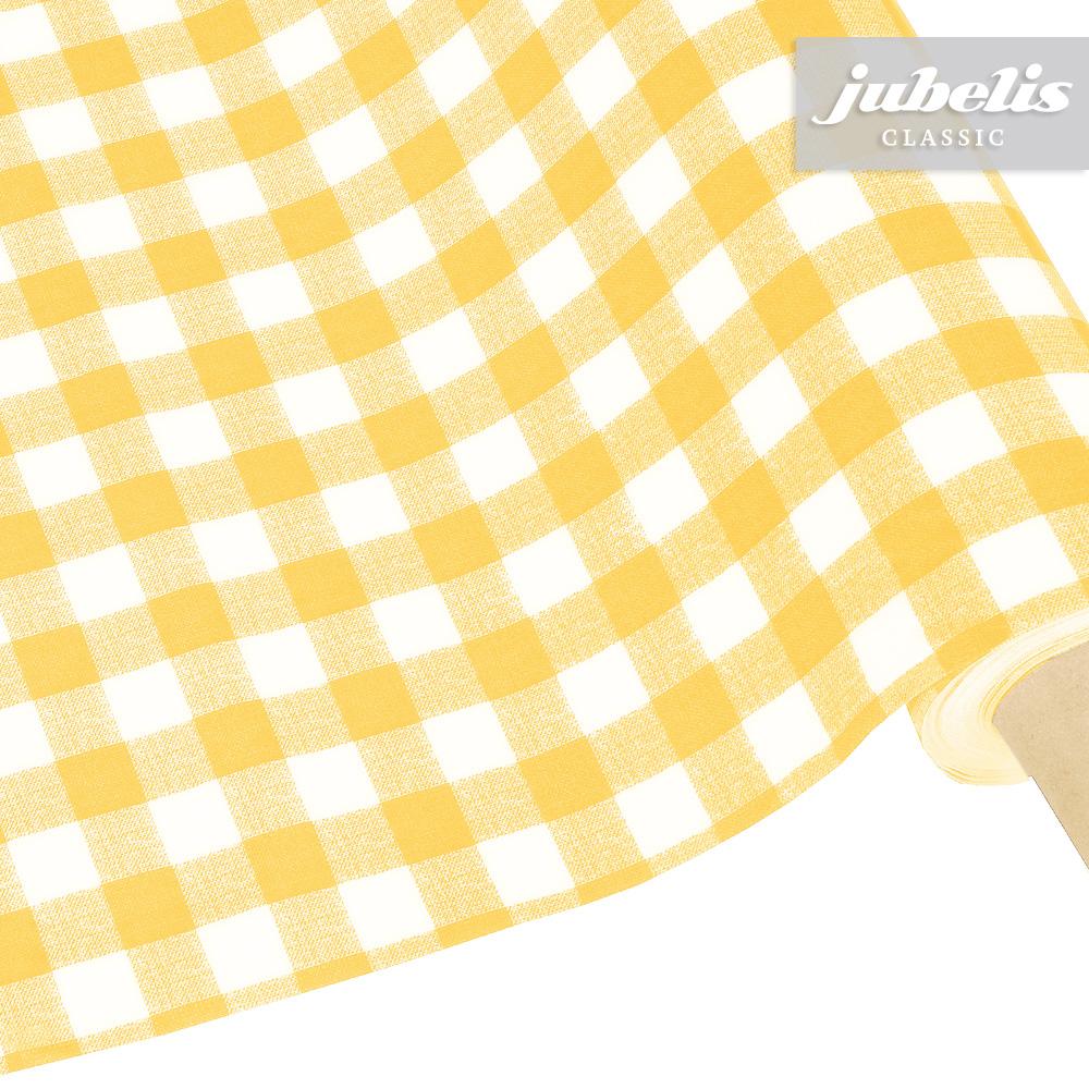 jubelis wachstuch kariert avanti gelb h 100 cm x 140 cm. Black Bedroom Furniture Sets. Home Design Ideas