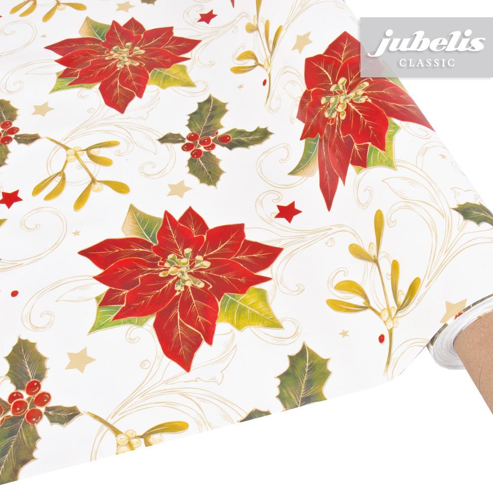 jubelis wachstuch weihnachten weihnachtsstern p 160 cm. Black Bedroom Furniture Sets. Home Design Ideas